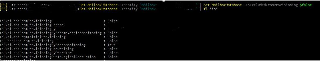 Exchange 2016 – Neue Mailbox – Error Load balancing failed